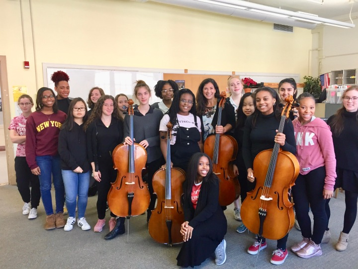 With students from the Savannah Arts Academy